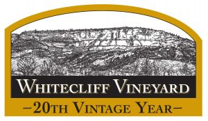 The Whitecliff logo declaring this our 20th vintage year